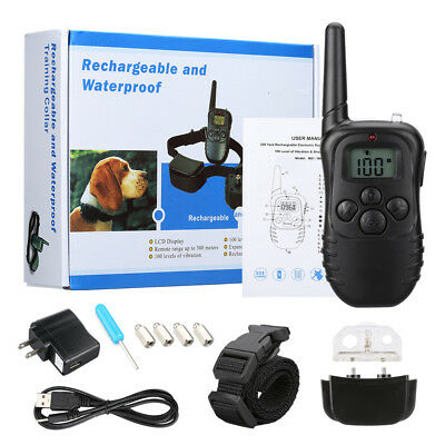 330Yard Waterproof Rechargeable LCD Electric Remote Dog Training Shock Collar US