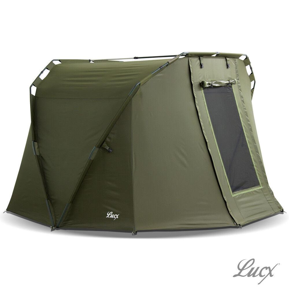"Lucx® Bivvy 1 - 2 Mann Angelzelt Karpfenzelt Carp Dome Fishing Tent ""Caracal"""