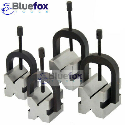 8 Pc V-block Clamp Bar Double Sided 90 Precision Hardened Steel Machinist Tool
