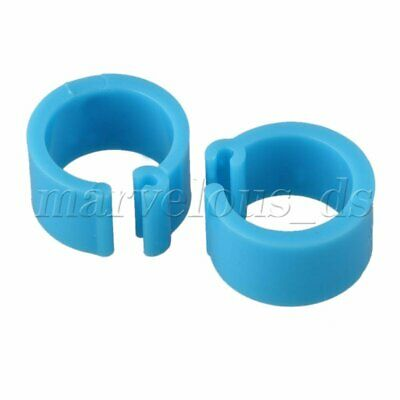 100 Pieces Blue Plastic Poultry Pigeon Leg Bands Clip Rings for Racing Pigeons