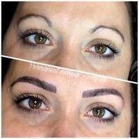 Feathering brows and permanent lip blushing $350