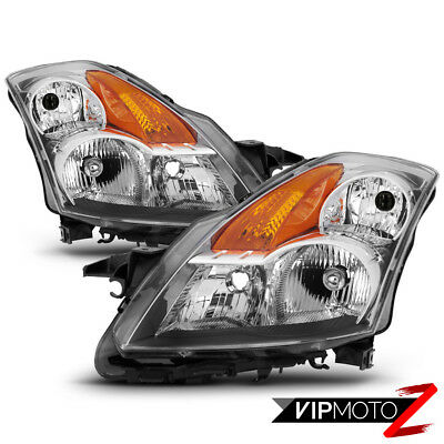 """Fit 07-09 Nissan Altima """"FACTORY STYLE"""" Chrome Headlights Replacement Lamps Pair"""