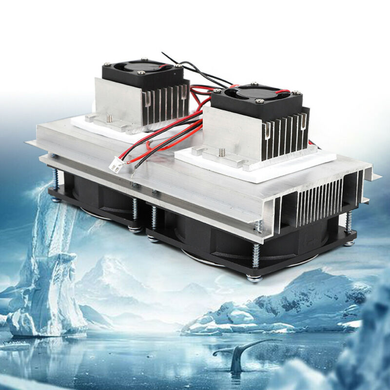 Semiconductor Refrigeration Air Cooling Fan Dual Head Peltier Cooler 12V 140W