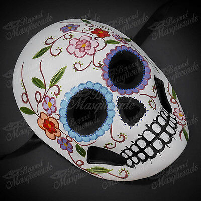 Womens Day of the Dead Skull Skeleton Halloween Masquerade Mask Floral Design
