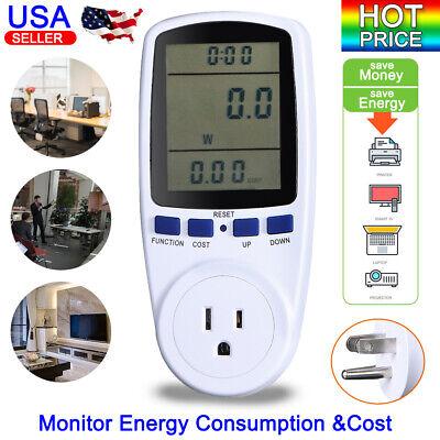 Hot Digital Power Saving Energy Monitor Watt Amp Volt Kwh Meter Analyzer Us Plug