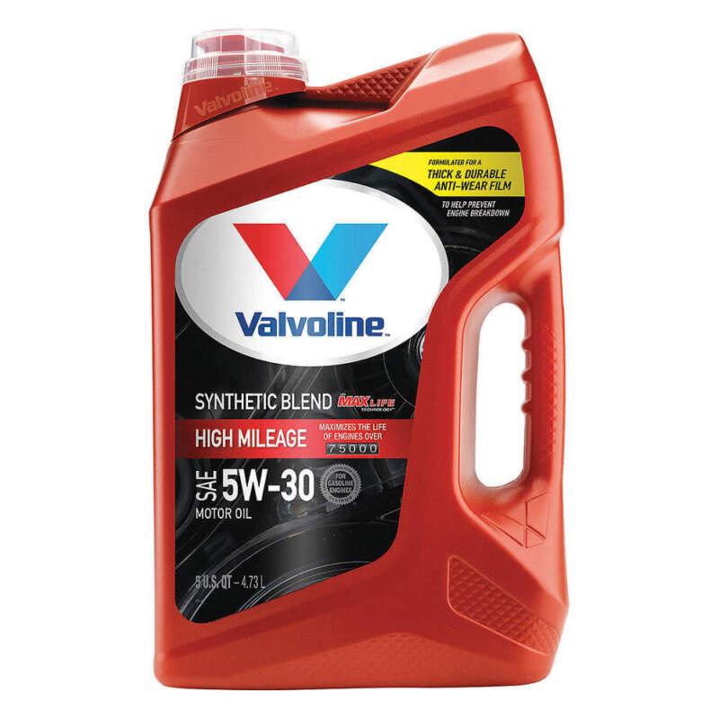 VALVOLINE 881163 Engine Oil,5W-30,Synthetic Blend,5qt