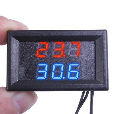 Dc4-28v Thermometer Digital Temperature Sensor Ntc Metal Probe Dual Led Display
