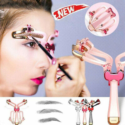 Women Lady Girls Brow Make Up Cosmetic DIY Shaping Kit Eyebrow Contour Stencil