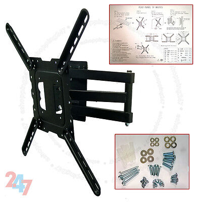 New Black Wall Bracket Mount Swivel Tilt for LCD LED Plasma 22 to 50 inch TV for sale  Shipping to South Africa