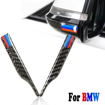 2x Carbon Fiber Rearview Mirror Anti-Rub Trim Sticker For BMW 3 5 Series X3 X5