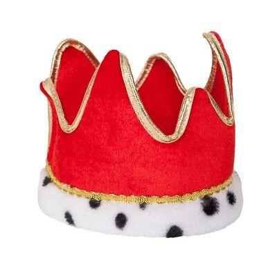 Gold Kings Krone Prinz mit Juwelen Besetzt Royalty Erwachsene Kinder