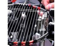 Re stringing of badminton rackets