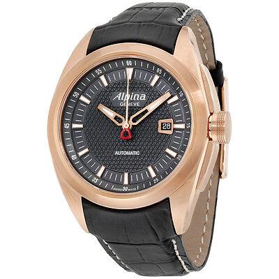 Alpina Nightlife Club Automatic Black Dial Leather Strap Men's Watch AL525B4RC4