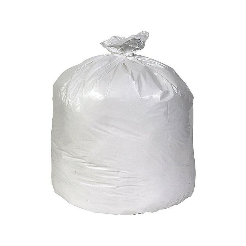 Brighton Trash Bags 55-60 Gallon 38x58 Low Density 0.74 Mil White 100 CT 814877