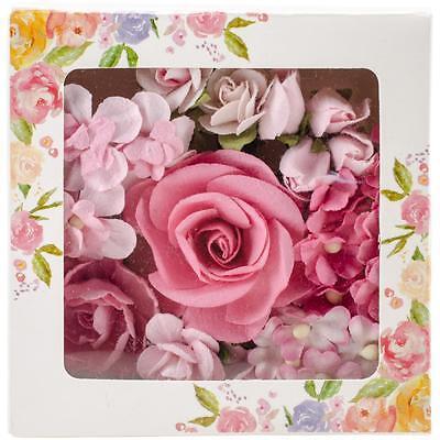 PRIMA MARKETING- BOUQUET MIX FLOWERS- CHARLESTON (PINK)