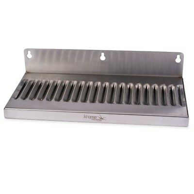 Draft Beer Drip Tray - Wall Mount No Drain - Stainless Steel 12