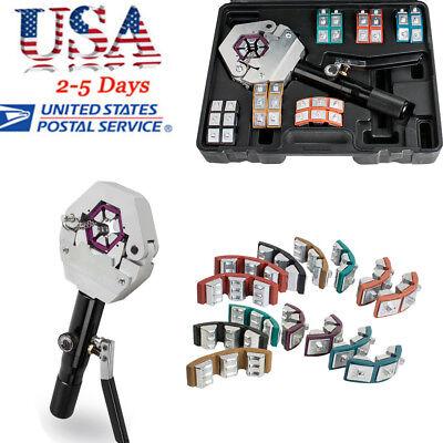 Portable Hydraulic Hose Crimper Crimping Tool Kit Manual Air Conditioner Car