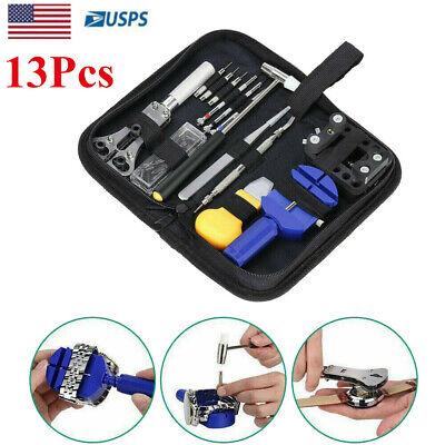 Watch Repair Tool Kit Case Opener Link Spring Bar Remover Watchmaker Tool 13Pcs