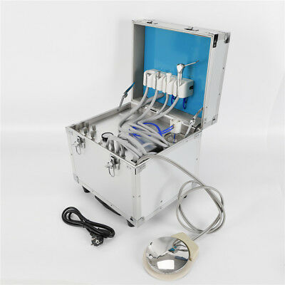 Portable Dental Delivery Unit Mobile Rolling Case Air Compressor Suction Sale