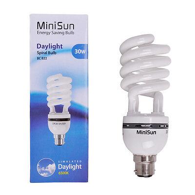 30W BC B22 Daylight Reading Craft Lamp Energy Saving CFL  Plant Grow Light Bulb