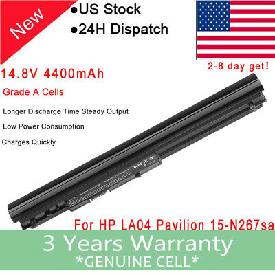 8Cell LA04 Battery for HP Pavilion 14 15 TouchSmart series 728460-001 776622-001