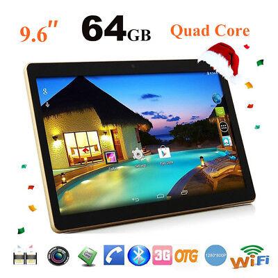 10,0'' QUAD CORE 4GB64GB Dual SIM Kamera HD 3G WIFI Android 5.1 Ebook TABLETS PC