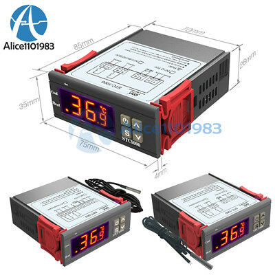 Dst1000 Stc1000 Dc 12-72v 12v 24v Ac 110-220v Temperature Controller Thermostat