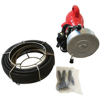 Electric Drain Auger Drain Cleaner Machine Cleaning Snake Sewer Dredging 34-4