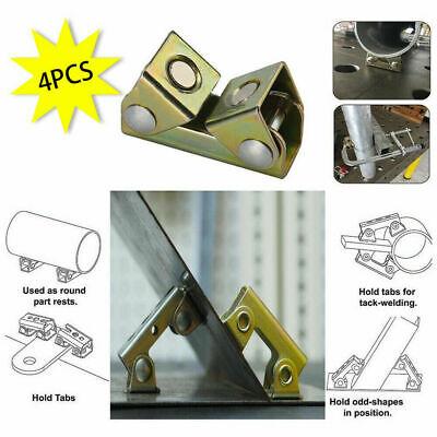 Adjustable V Type Magnetic Welding Clamps Holder Suspender Fixture Pads 4pcs