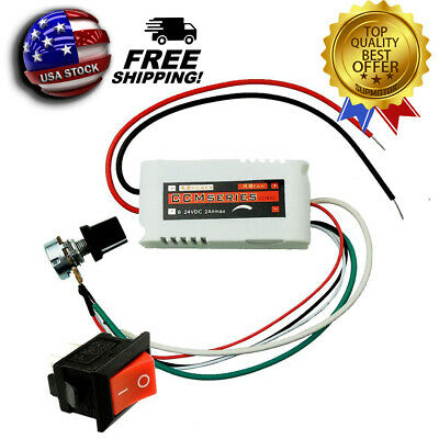 Dc 12v Pwm Motor Speed Controller For Fan Pump Oven Blower With Switch Usa Ship
