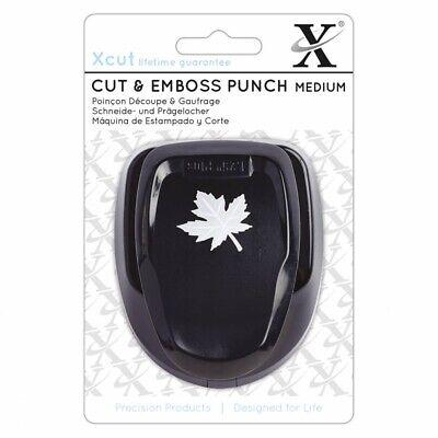 Maple Leaf Medium Punch - Xcut Punch, Black, One Size - Emboss Punch Medium Xcu Maple Leaf Cut Flower
