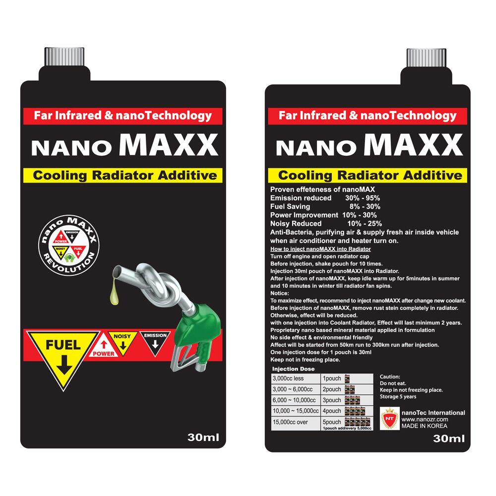 New,nanoMaxx,Cooling radiator Additive,Fuel Save,Emission & Noisy Reduce,Powerup