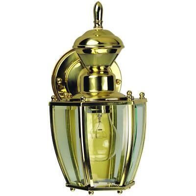 Heath Zenith 150 Degree Polished Brass Traditional Coach Lantern -