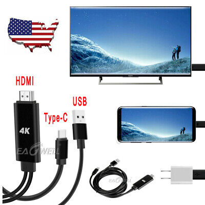 US Type-C USB-C to HDMI 4K HD Cable Adapter Converter for PC Cell Phones to TV