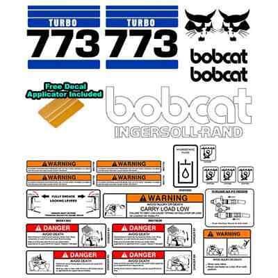 Bobcat 773 Turbo V2 Skid Steer Set Vinyl Decal Sticker Bob Cat Made In Usa