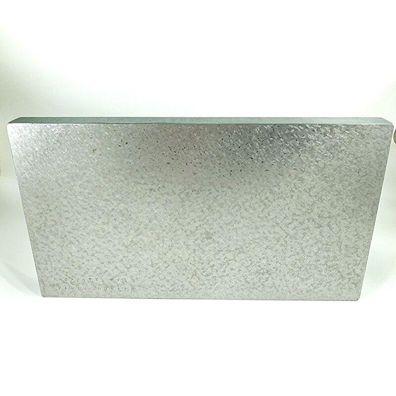 "Cast Iron Surface Plate Fresh Scraped 14"" x 7-3/4"" x 1-1/8"" Webbed Back"