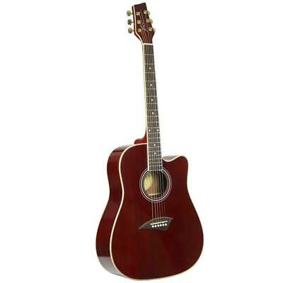 Kona K1 Series Acoustic Dreadnought Cutaway Guitar Transparent Red K1TRD
