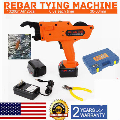 30-60mm Rechargeable Auto Rebar Steel Wire Tier Rebar Tying Machine Strapping Us