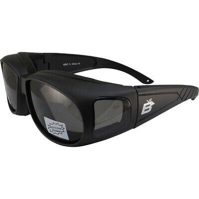 Birdz Swallow Foam Padded Fits Over Most Prescription Eyewear Glasses Smoke Lens