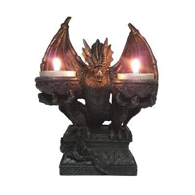 er für 2 Teelichter Halloween Gothic Dragon Deko DRA356 (Gothic Für Halloween)