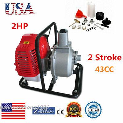 Petrol 1 Inch Water Transfer Pump High Flow 2hp 43cc 10m3h Diahpragm Type