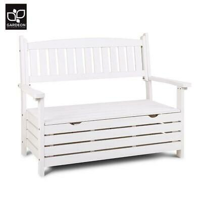 Garden Furniture - Gardeon Outdoor Storage Bench Box 2 Seat Patio Furniture Wooden Garden Lounge