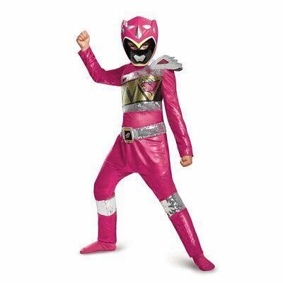 Pink Power Ranger Dino Charge Sequin Deluxe Costume - Deluxe Power Ranger Kostüme