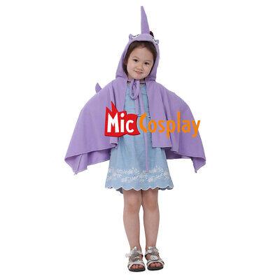 Unicorn Halloween Kids Cosplay Purple Costume Wings Cloak For Little Girls](Halloween For Little Kids)