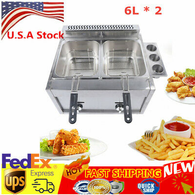 Kitchen 6l2 Liquid Petroleume Deep Fryer Home Commercial Countertop Gas Fryer