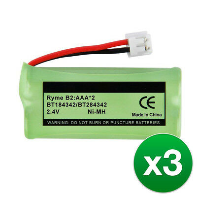 Replacement For AT&T BT8001 Cordless Phone Battery  - 3 Pack