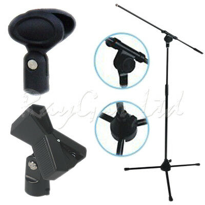 Professional High Quality Boom Microphone Mic Stand Holder Adjustable + 2 Clips
