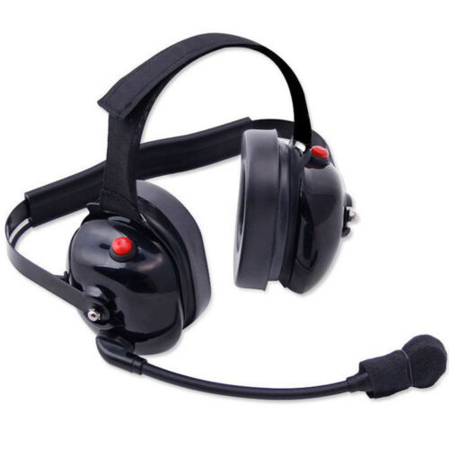 H60 Dual Radio BTH Two Way Headset w/ Dual PTT Push to Talk Rugged NASCAR Racing