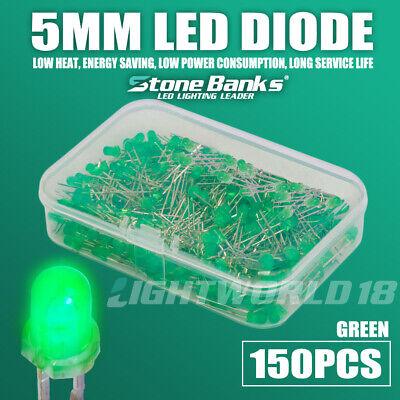 150pcs 5mm 2pin Green Led Light Emitting Diode Electronic Diy Model Assorted Kit