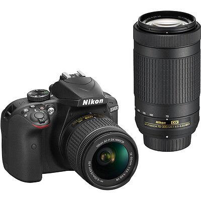 Nikon D3400 DSLR Camera 24.2MP With 18-55mm and 70-300mm Lenses D3400BUND